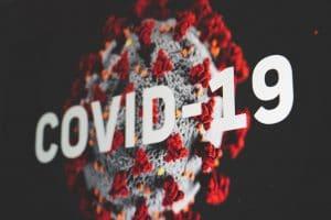 Covid-19 - Corona, Coronavirus Schriftzug